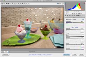 Adjusting RAW image format