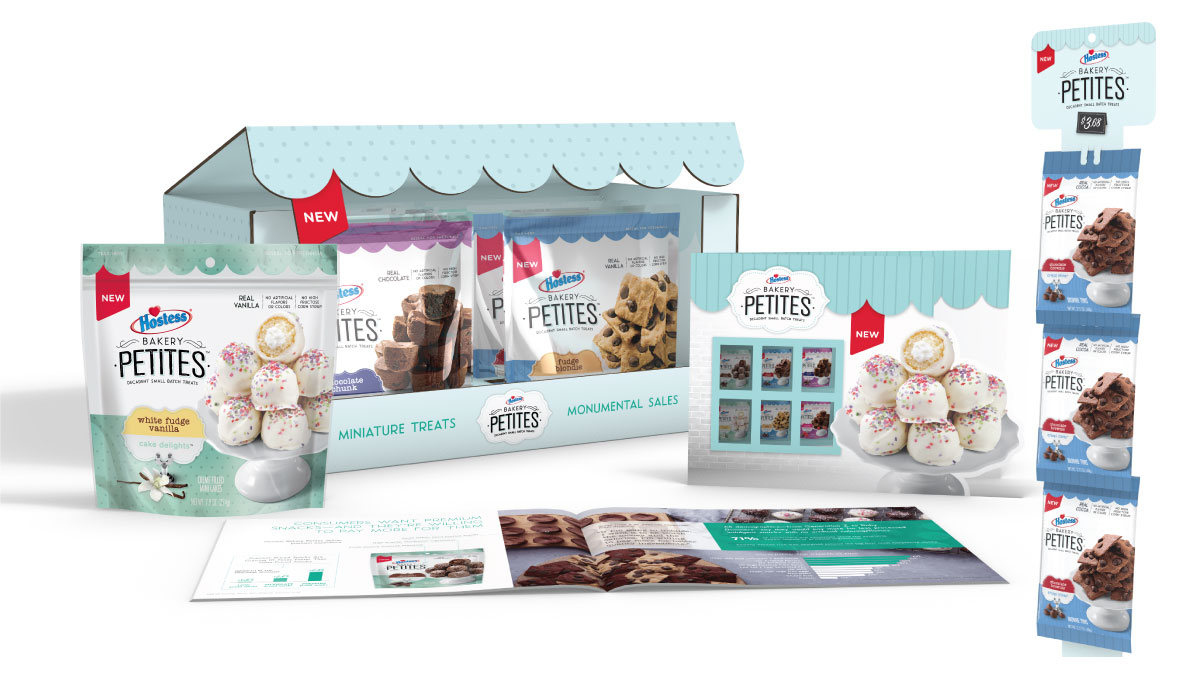 Hostess Bakery Petites - Sales kit and Packaging