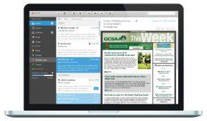 Before - email designed for desktop only