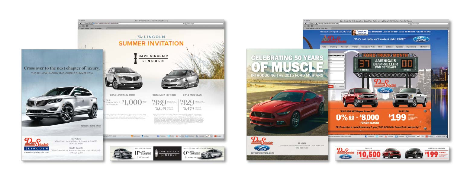 Dave Sinclair Ford Dealer - Direct Mail - Digital
