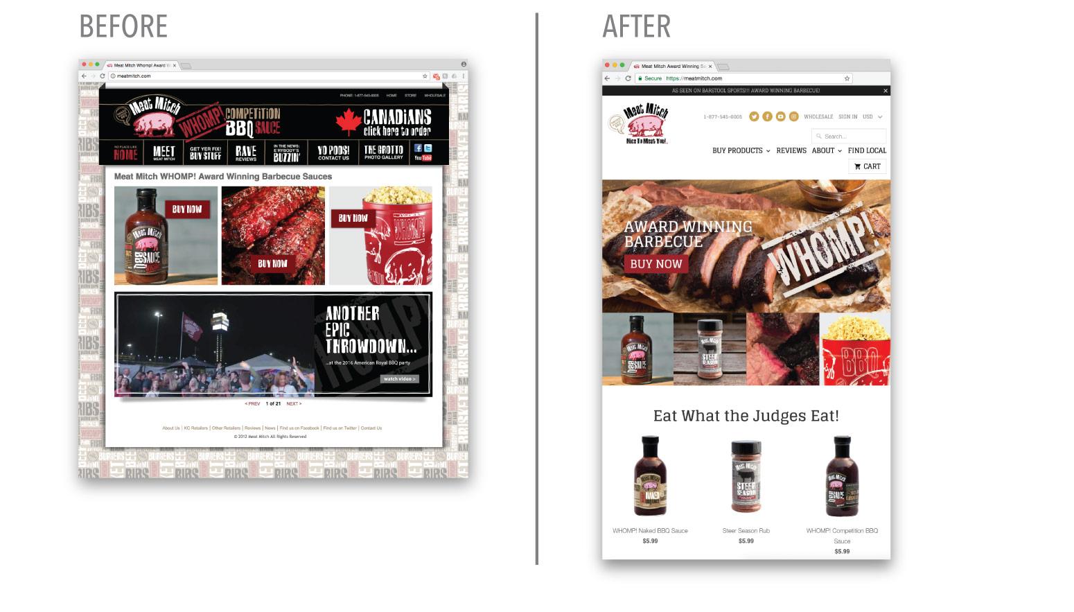 Meat Mitch Website Redesign