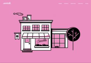 Lundmark's favorite visual storytelling website design - sprinkles