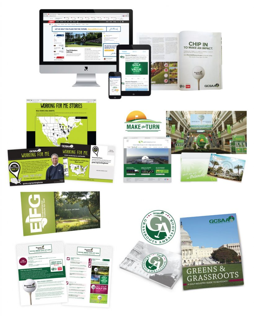 GCSAA - Brand Strategy Collateral Design Copywriting Digital Advertising Direct Mail Email Marketing Event Marketing Social Media Website Development