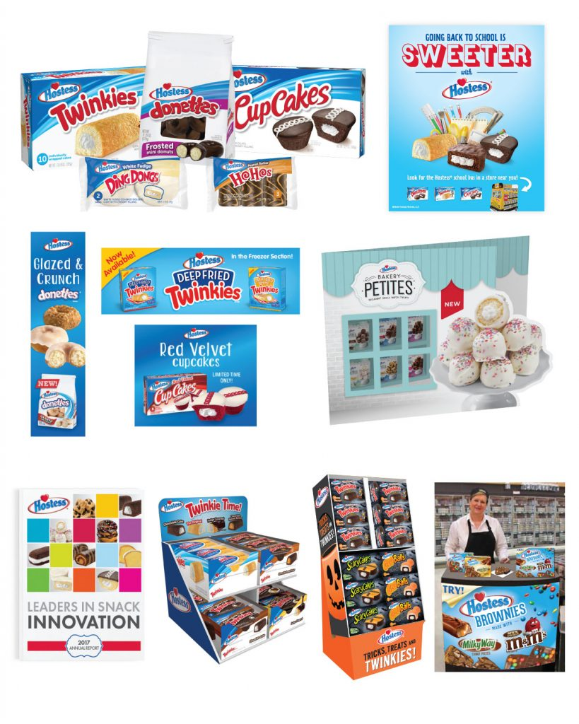 Hostess - Brand Strategy Consumer Promotions Digital Advertising Email Marketing Event Marketing & Sponsorships New Product Launch Packaging Photography Point-of-sale Print Advertising Product Licensing Sales Support Materials Social Media Website Development