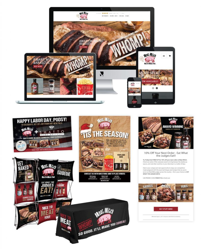 Meat Mitch - Brand Strategy Consumer Promotions Digital Advertising Email Marketing Event Marketing & Sponsorships Photography Point-of-sale Sales Support Materials Social Media Videography Website Development