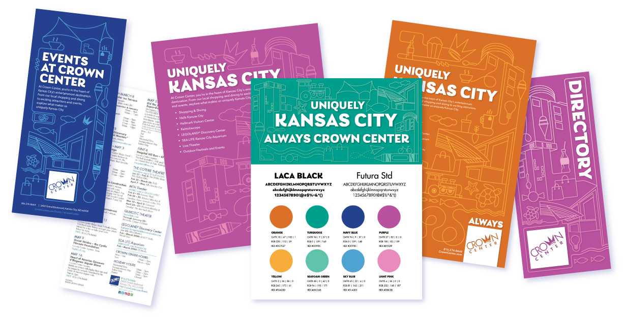 Crown Center - Branding campaign elements