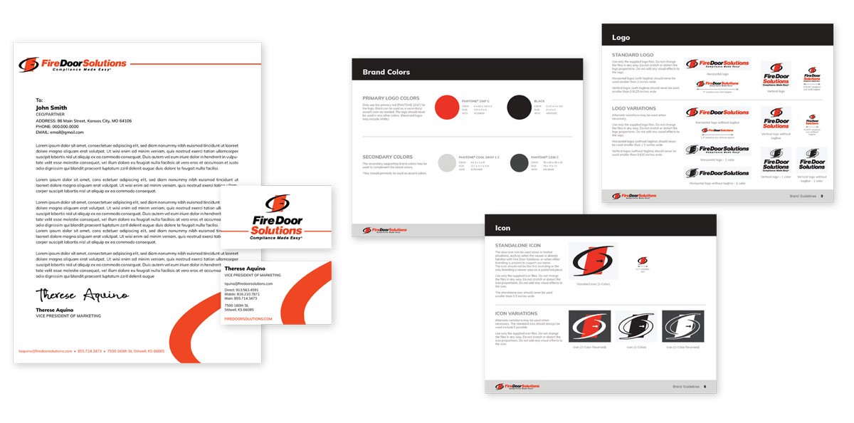 Fire Door Solutions - Style Guide - Brand development
