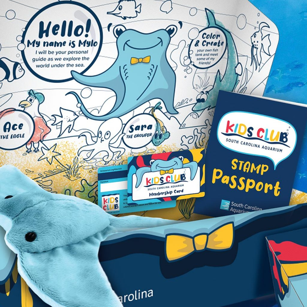 Kids Club - South Carolina Aquarium members kit - brand identity
