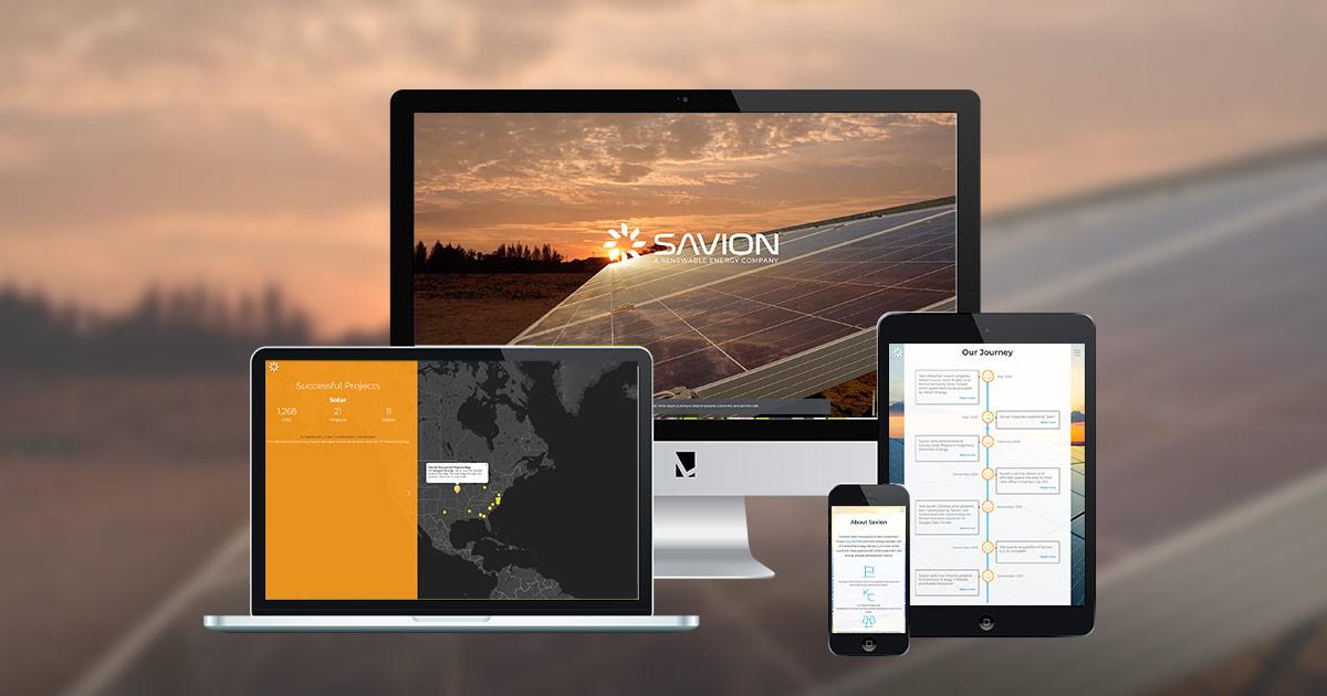Savionenergy.com Web design and web development