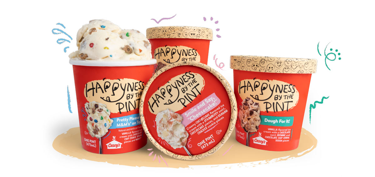 Casey's General Store Ice Cream Package Design